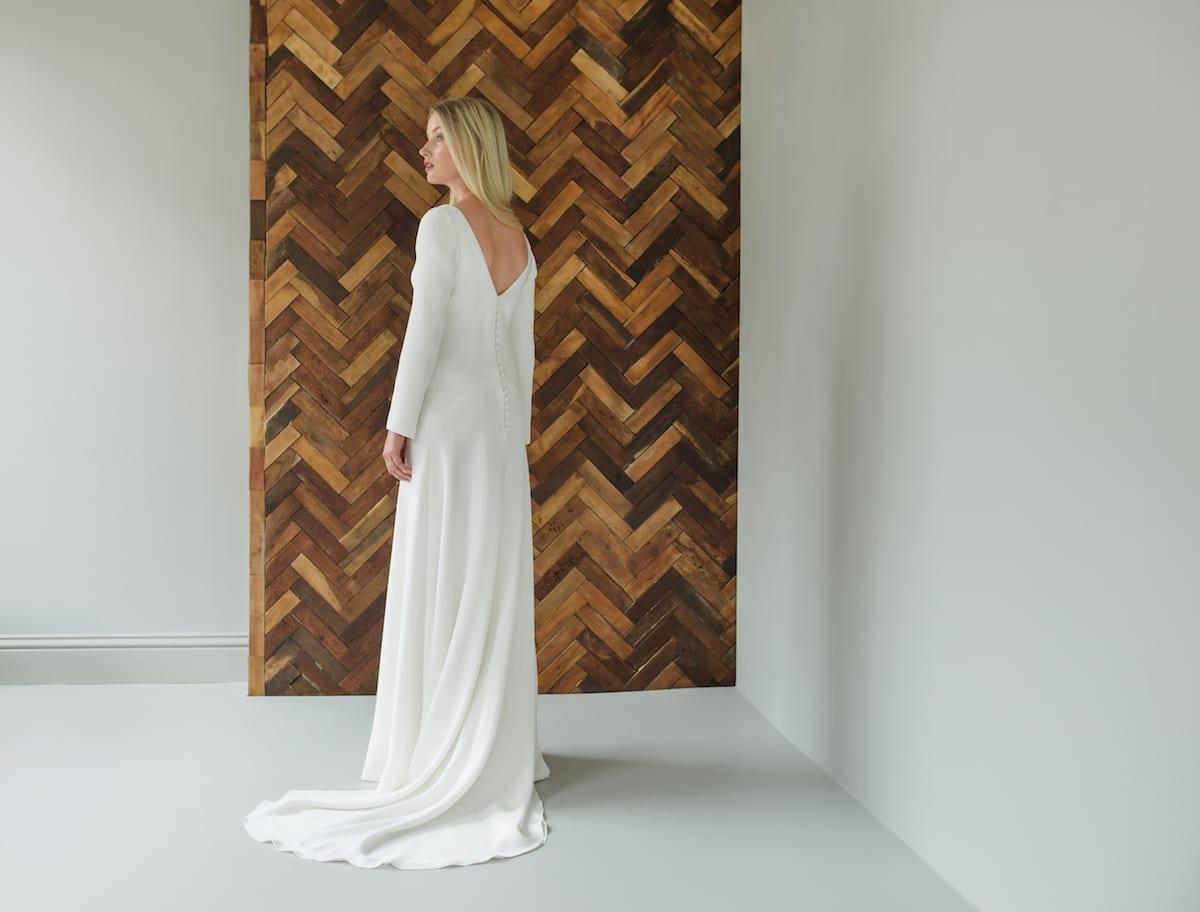 romantic wedding dress simple silk