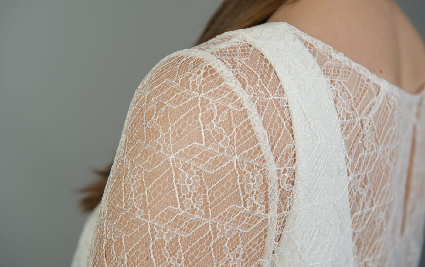 lace bridal top from the back