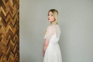 simple romantic wedding dress