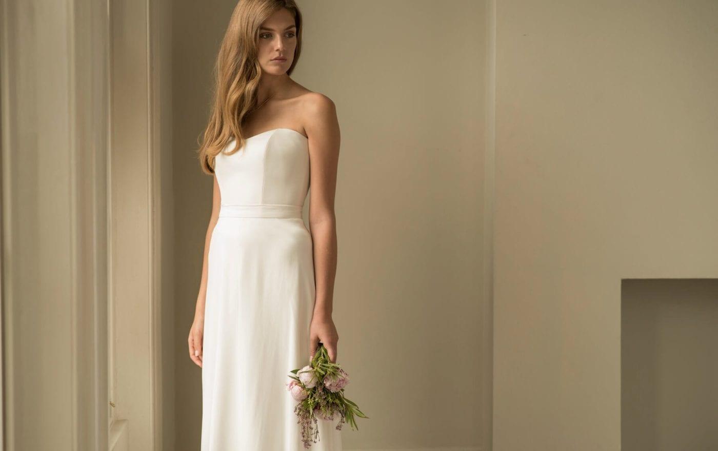 sweetheart neckline a line wedding dress separates