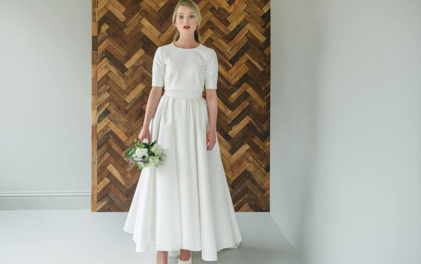 simple romantic wedding dresses with sleeves