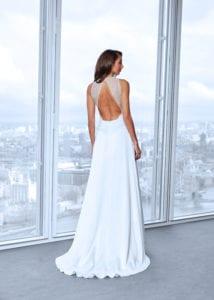 lace portrait back wedding dress