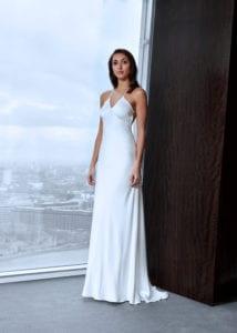 simple satin weddng dress
