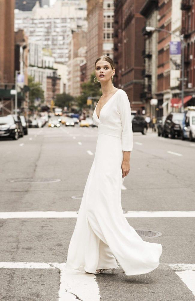 jumpsuit wedding dress shot 2