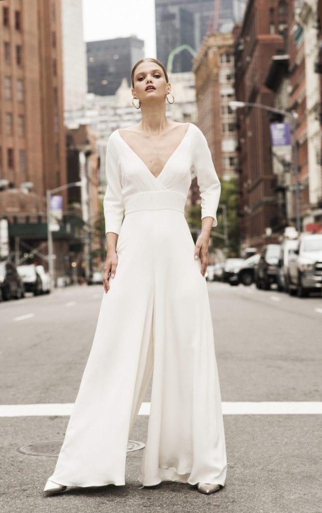wedding jumpsuit long sleeves