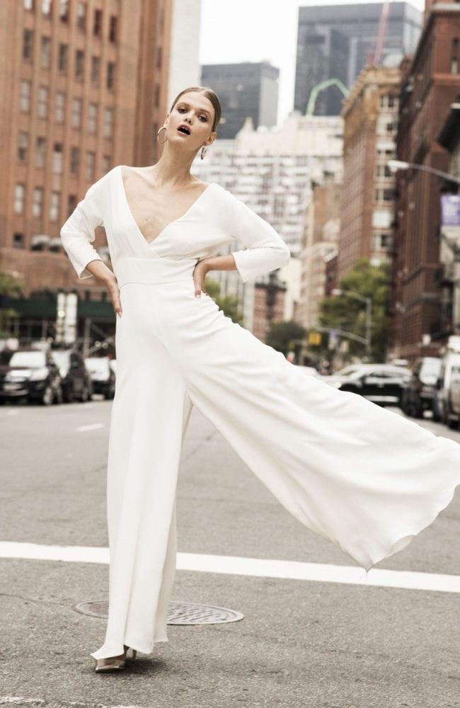 jumpsuit wedding dress shot 1
