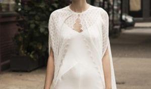 woman wedding silk wedding dress with bridal wedding cape