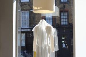 wedding dress in shop window