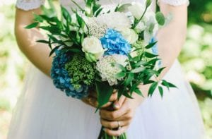 blue bridal flowers