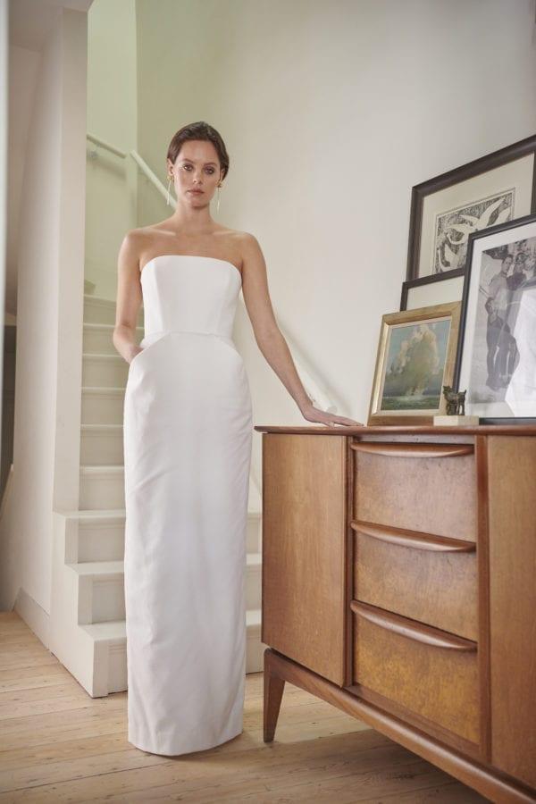 strapless corset wedding dress