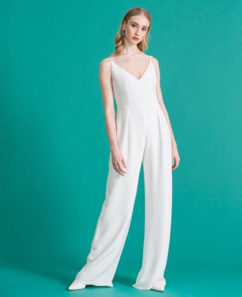 strappy silk bridal jumpsuit