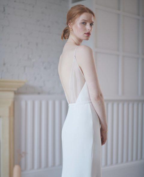 backless low back wedding dress