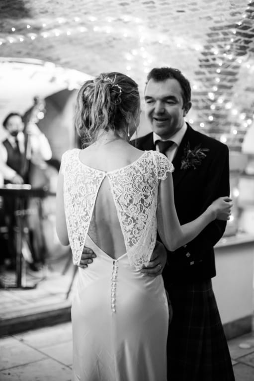 Andrea bride at wedding reception