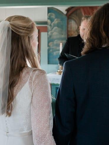Jayne at wedding ceremony