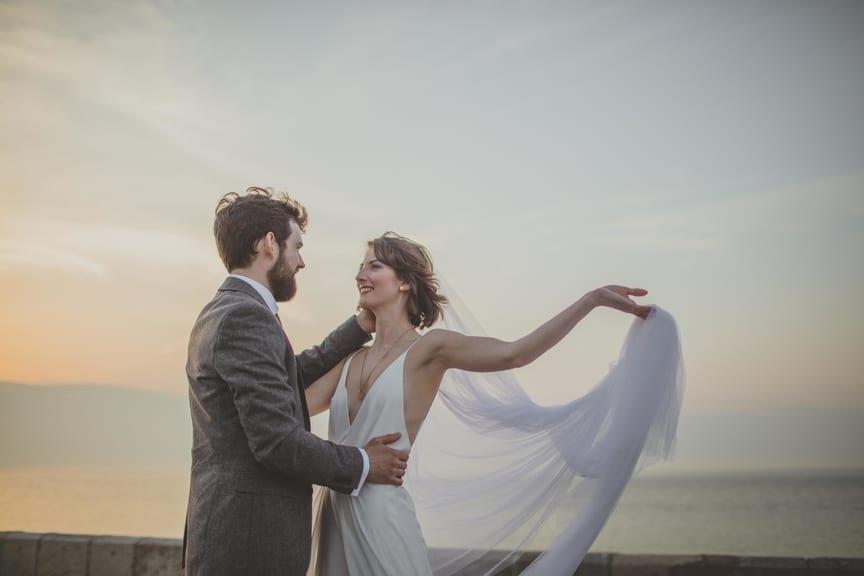 Harriet in wedding veil by Andrea