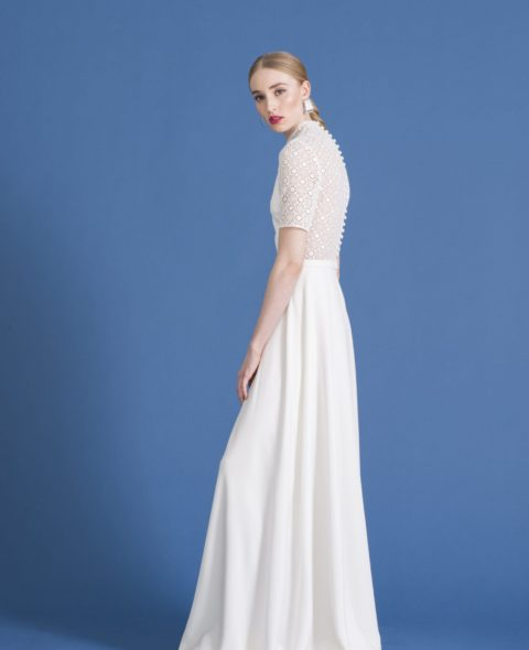 wedding dress with lace sleeves
