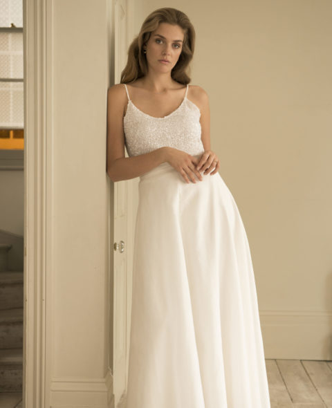 bridal separates skirt and top
