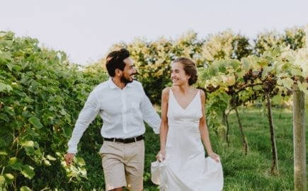 bride and groom eloping
