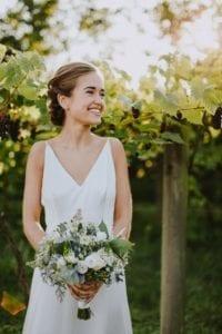 bride in simple wedding dress