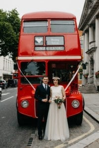 wedding special double decker red bus