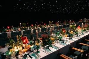 Christmas wedding table decorations