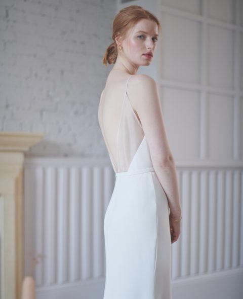 minimal wedding dress
