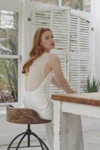 lace back wedding dress