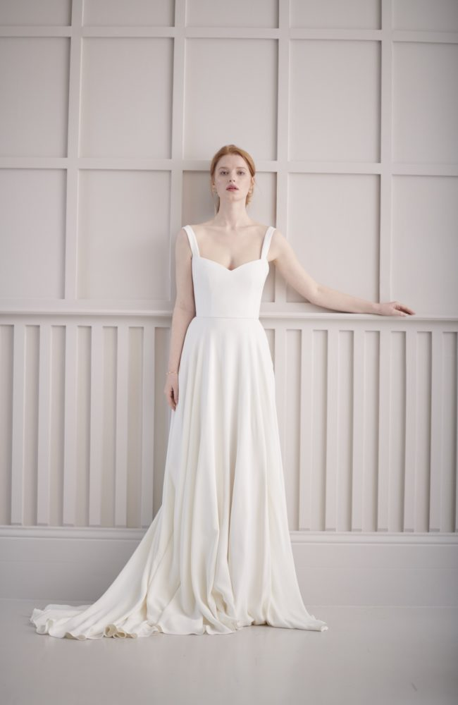 structured wedding dress