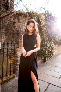 black wedding dress evening gown