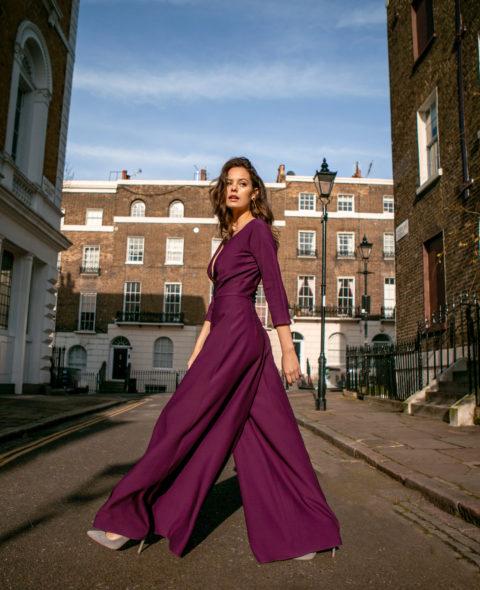 purple bridal jumpsuit