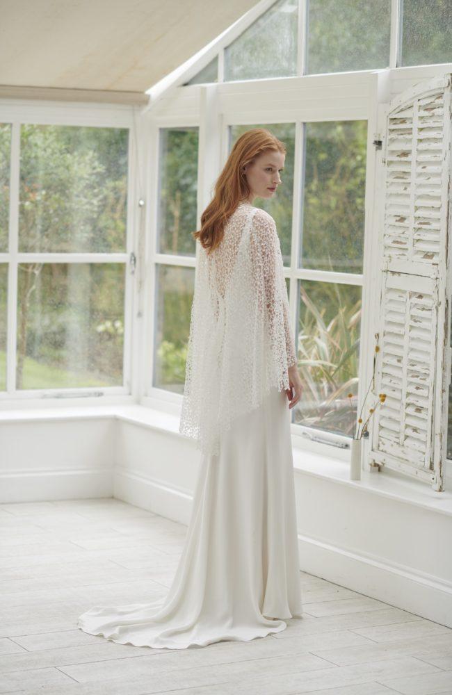 wedding dress cape