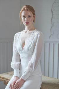 long sleeve boho wedding dresses