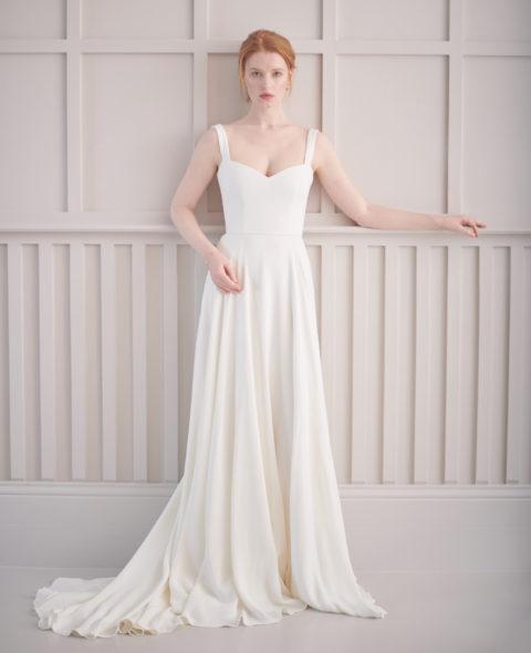 corset wedding dress simplistic