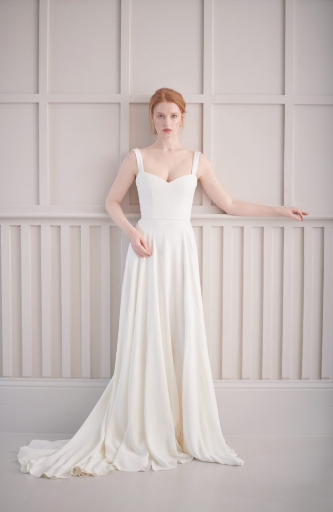corset wedding dress simplistic