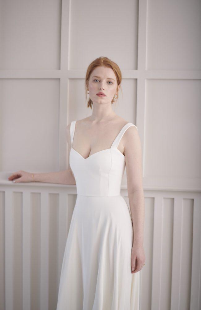 corset wedding dress silk