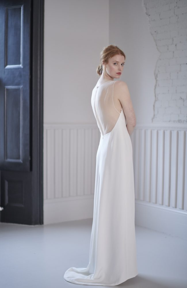 slim a line wedding dress