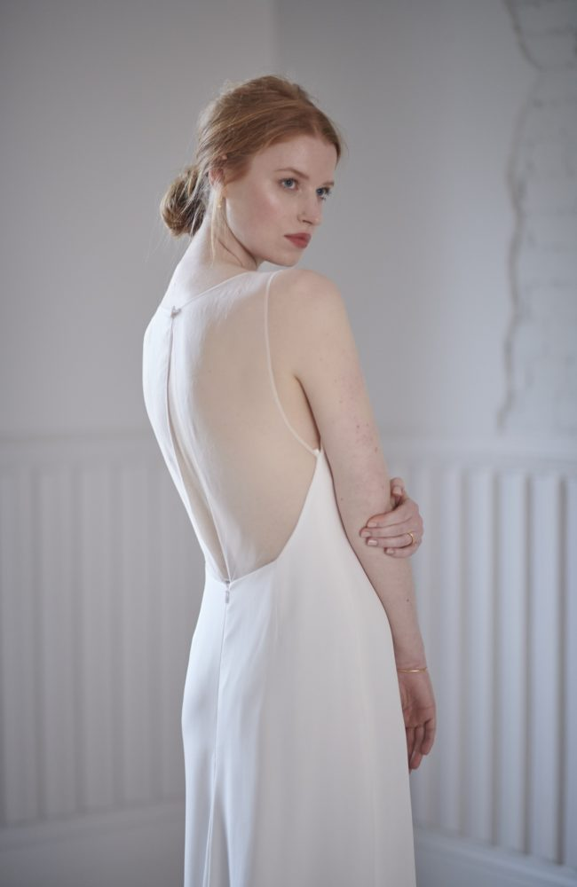 a line chiffon wedding dress