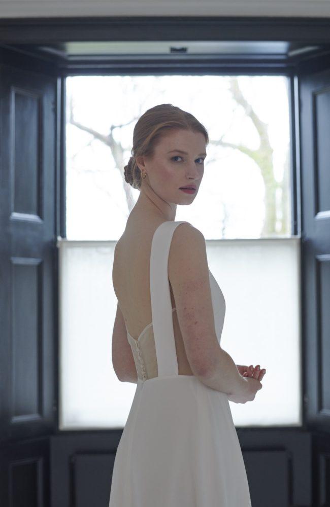 simple silk wedding dress