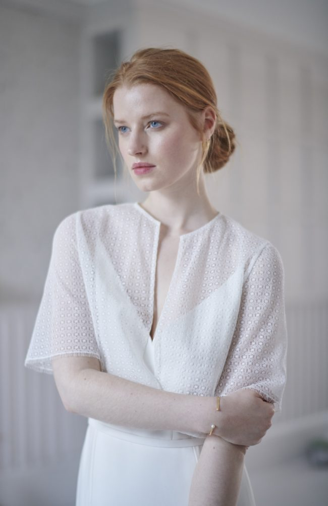 lace wedding top with sleeves