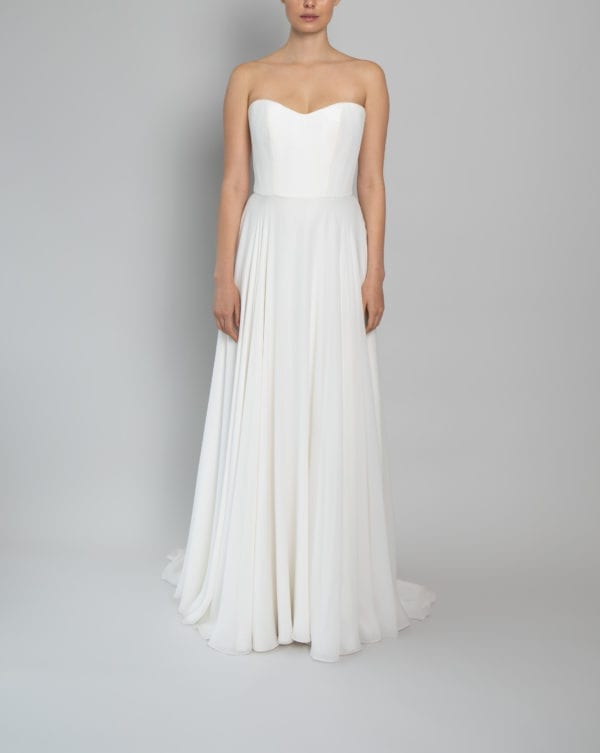 Florence corset wedding dress in silk and georgette