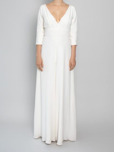 bridal jump suits silk