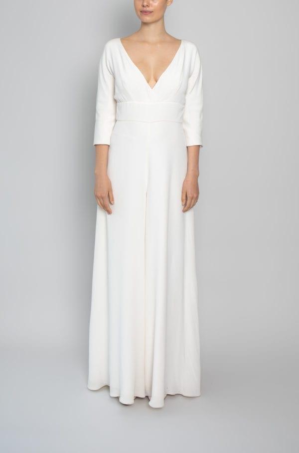 bridal jump suits silk