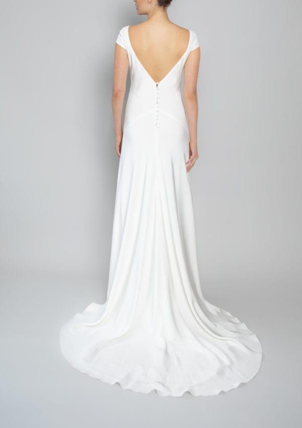 v back neckline wedding dress