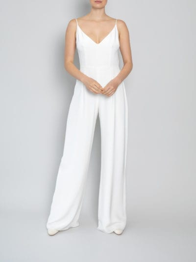 white jumpsuit wedding