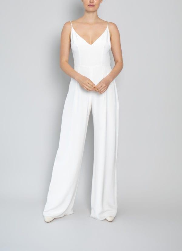 white jumpsuit wedding
