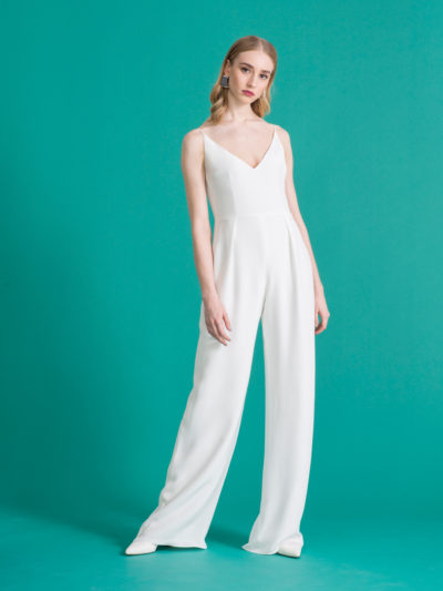 bridal jumpsuit silk