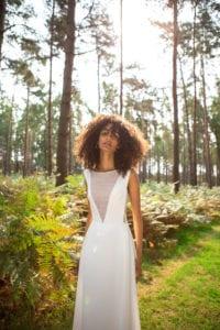 wide strap wedding dress