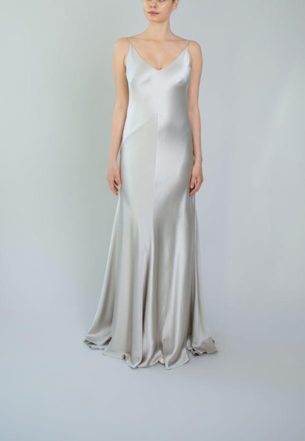 bias cut evening wear dress