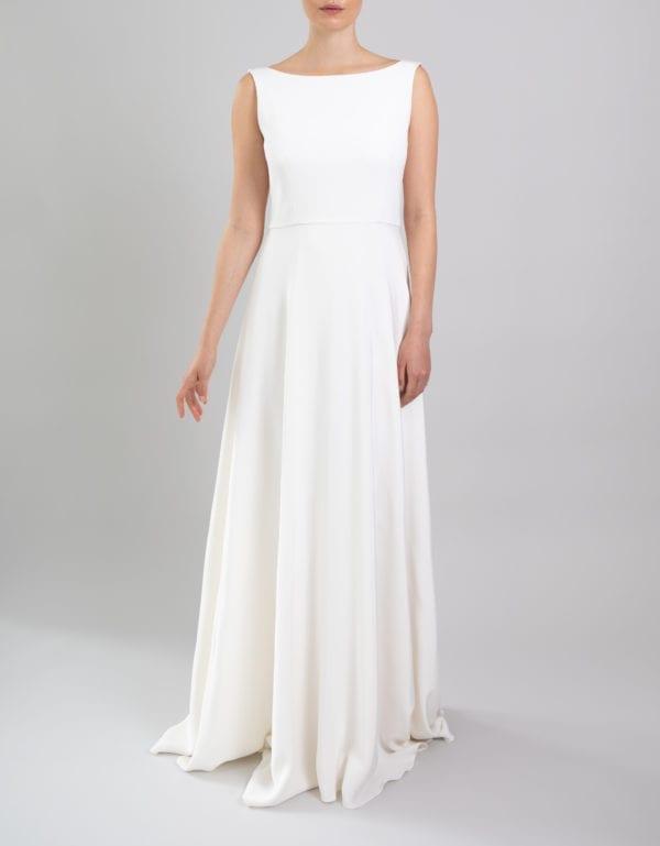 high neck low back wedding dress