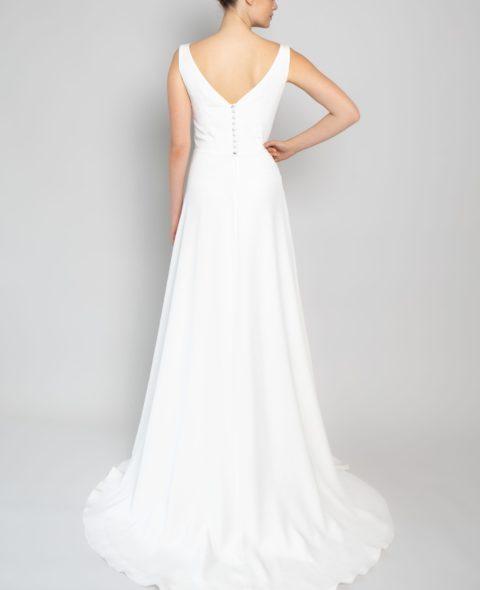 plunging neckline wedding dress